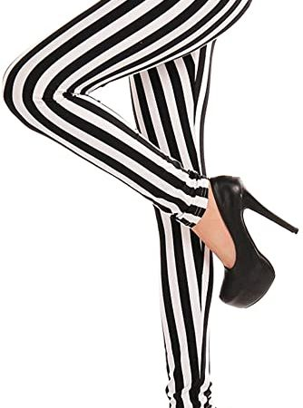 leggings blanco y negro