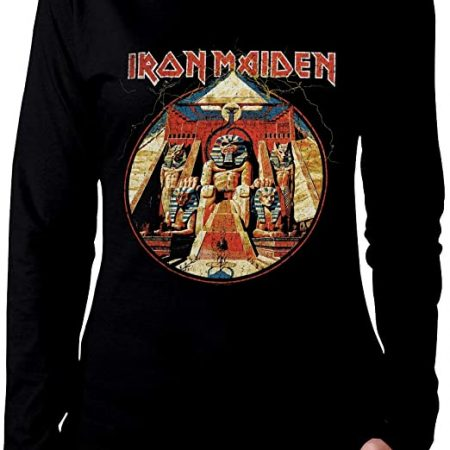 iron maiden camiseta de manga larga