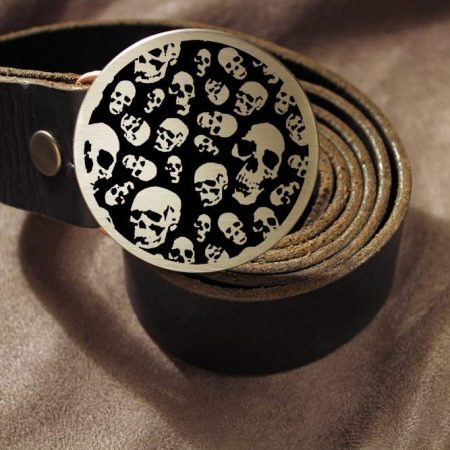 Skulls BIKER - Metal Belt Buckle