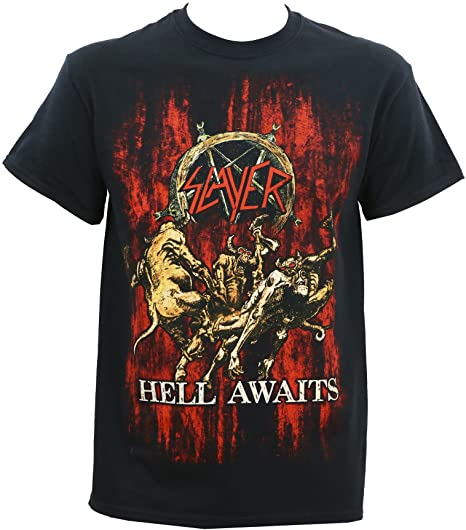 Slayer Hell Awaits - camiseta para hombre