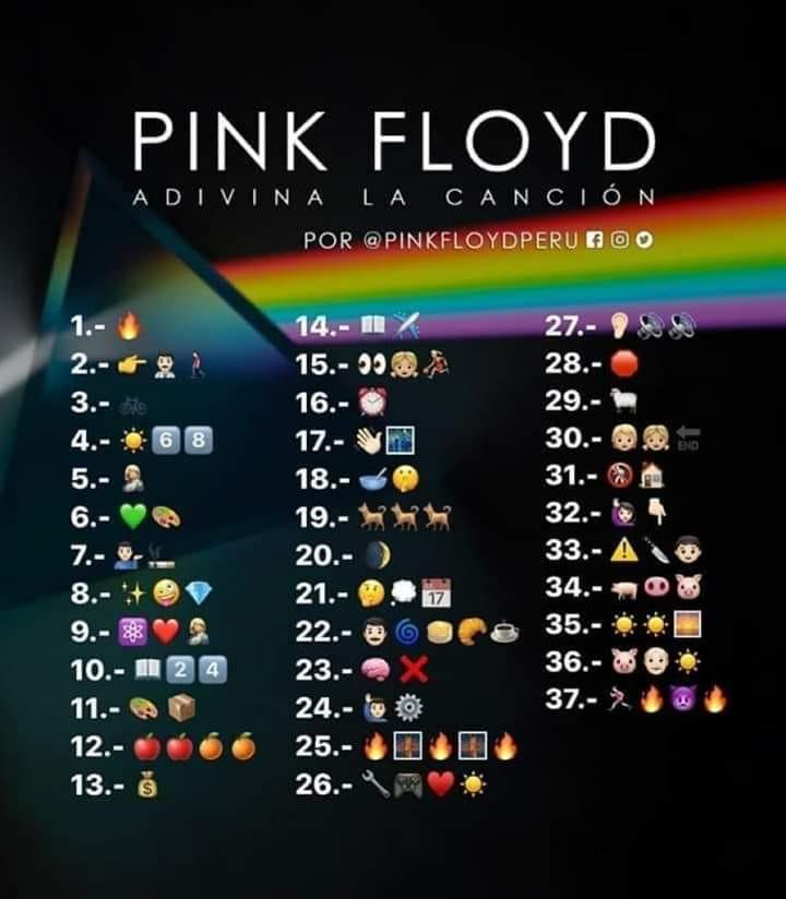 Adivina la canción de Pink Floyd