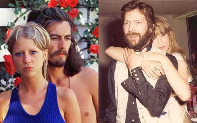 Eric Clapton, George Harrison y Pattie
