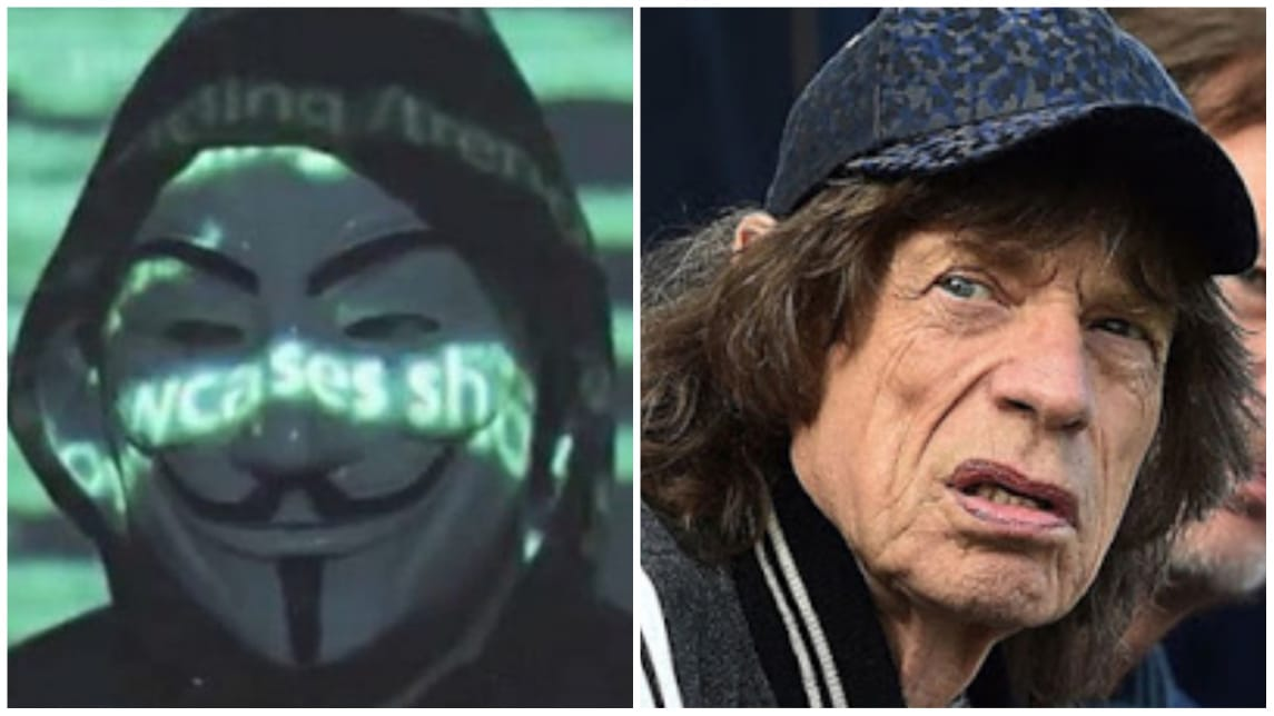 Anonymous Mick Jagger