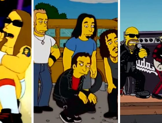 los simpsons rock y metal